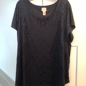 Chico's navy blouse size 3